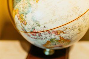 A photo of a globe.