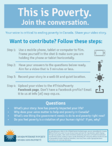 #ThisisPoverty Canada Video Instructions