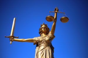 Statue of Lady Justice with Scales