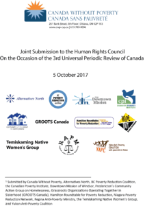 Cover page of the Universal Periodic Review Report